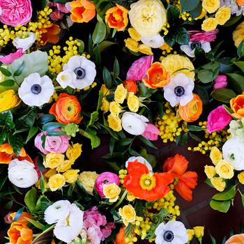 becca zac wedding flowers