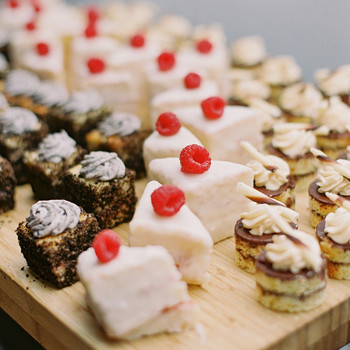 wedding reception petite desserts treat bar