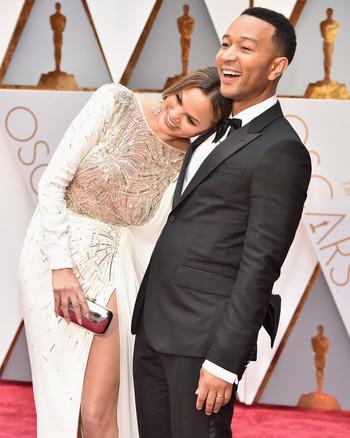 Chrissy Teigen and John Legend 2017 OscarsRed Carpet