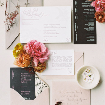 jamie and michael wedding invitation suite