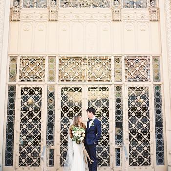 afton travers wedding couple