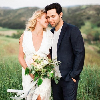 Anna Camp Skylar Astin engagement photo