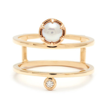 Pretty Pearl Engagement Rings