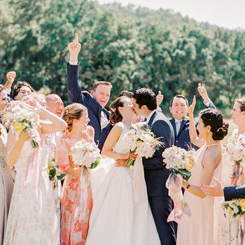 caitlin amit wedding couple kiss