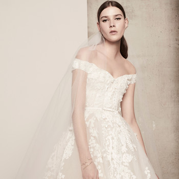 lace off-the-shoulder elie saab wedding dress spring 2018