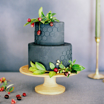 Honeycomb Wedding Inspiration, Wedding Cake with Honeycomb Motif