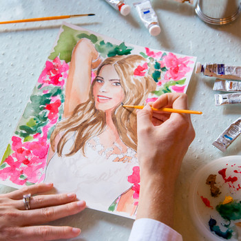 Enter to Win a Sketch of Sofia Vergara's Cover from Fashion Illustrator Inslee Fariss!