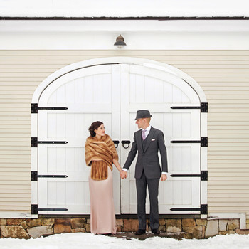 A Rustic Winter Destination Wedding in Vermont