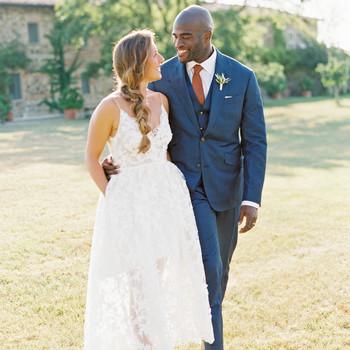 leila joel wedding couple walking