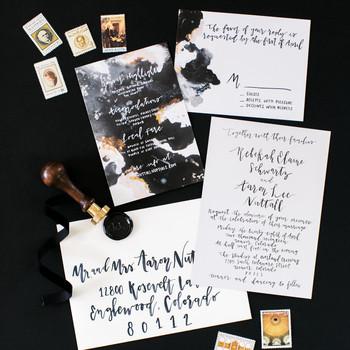 modern invitations