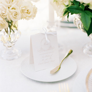 ramsey charles ireland wedding menu and place setting