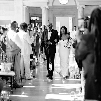 shanice & stephen wedding walk down aisle