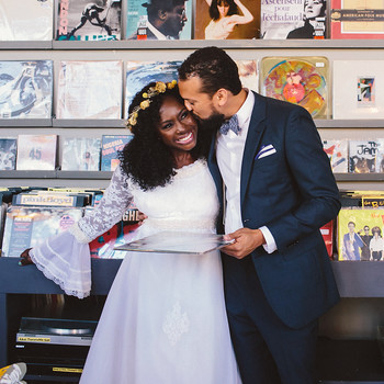 vasthy mason wedding couple affection music shop