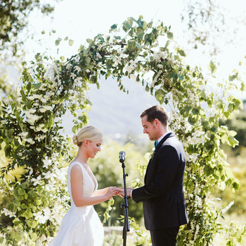 eliza peter wedding ceremony ring exchange