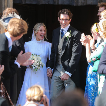 Ellie Goulding and Caspar Jopling tie the knot in England.