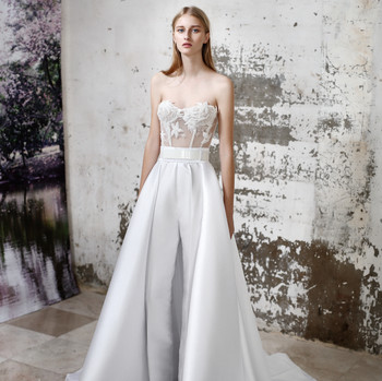 Gala by Galia Lahav satin a-line wedding dress fall 2019