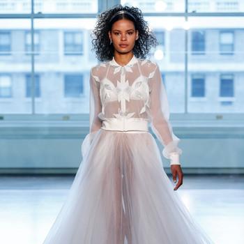 justin alexander wedding dress spring 2019 long sleeves collar sheer a-line