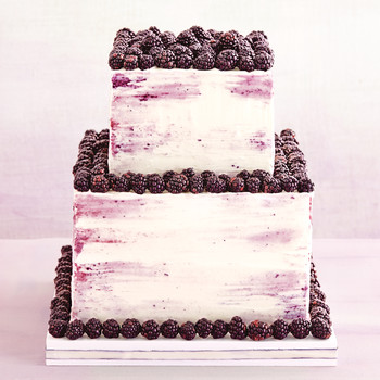 Wedding Cake with Blackberry Trim
