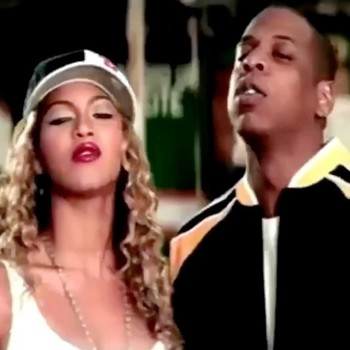 "Beyonce and Jay-Z in ""'03 Bonnie & Clyde"" music video"