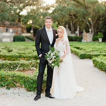 brette patrick wedding couple garden