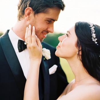 dani jackson wedding couple exchanging looks