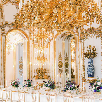 glamorous wedding ideas grand hall dining large chandelier
