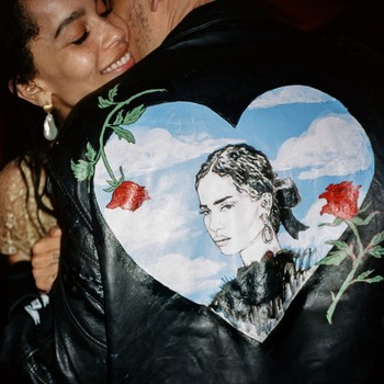karl glusman zoe kravitz wedding jacket