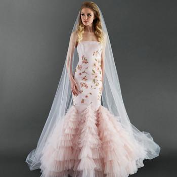 randi rahm pink floral wedding dress spring 2018