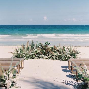 sophie jordan wedding ceremony beach space