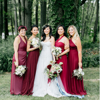 Burgundy Bridesmaids' Dresses Your Wedding Party Will Love