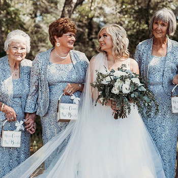 This Tennessee Bride's Four Grandmothers Served as Her Flower Girls