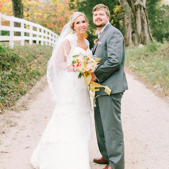 Brittany and Andrew's Pretty Fall Wedding in Virginia