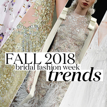 Bridal Fashion Week Fall 2018 Trends
