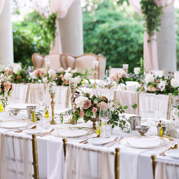 gloria zee wedding reception centerpieces place settings tables
