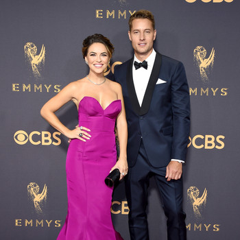 Justin Hartley and Chrishell Stause Emmys 2017