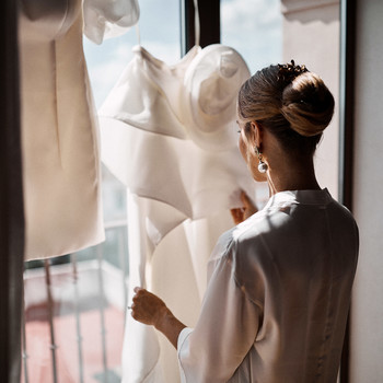 karolina sorab wedding bride dress getting ready