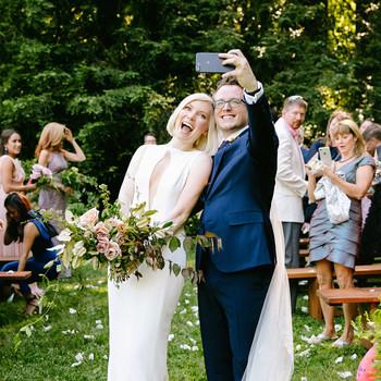 kendall jackson wedding couple selfie