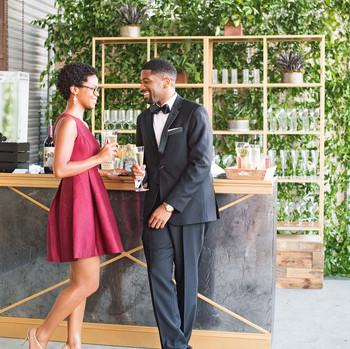 lindsey william wedding dc guests bar