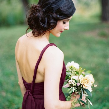bridesmaid purple dress