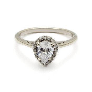 Anna Sheffield Pear-Cut Engagement Ring