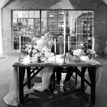 wedding reception couple