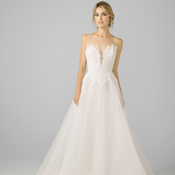 azul by liancarlo 2018 lace top a-line wedding dress