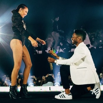 Beyoncé's backup dancer and dance captain got engaged during her concert