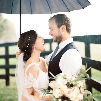 How to Rain-Proof Your Wedding Beauty Look
