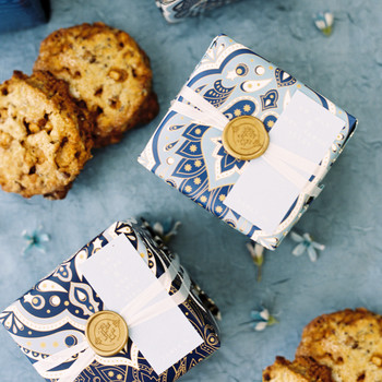 wrapped up presents cookies wedding favors