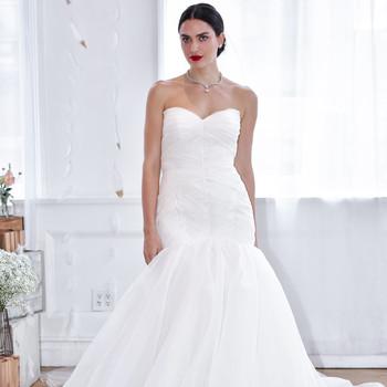 david's bridal fall 2018 trumpet strapless wedding dress