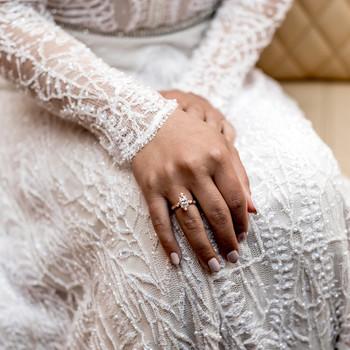 elle raymond venice wedding ring dress detail