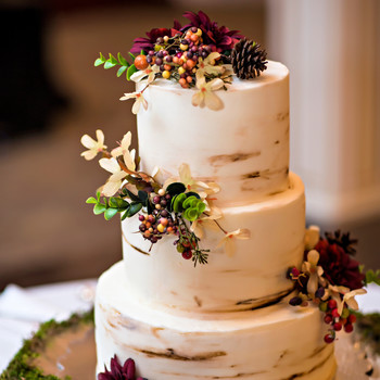 autumn wedding cake images wedding cakes amp toppers martha stewart weddings 10905