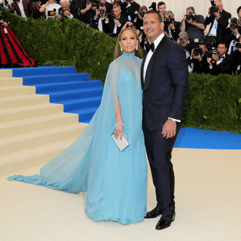 Jennifer Lopez and Alex Rodriguez Met Gala 2017