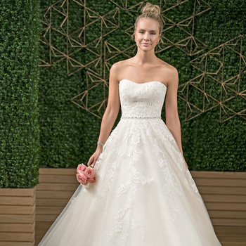 rebecca ingram strapless sweetheart wedding dress fall 2018